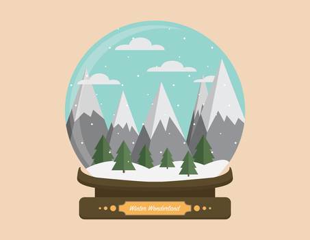Winter Wonderland Snow Globe by MissingPie