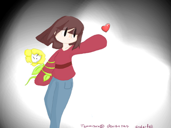 Under Fell Frisk by Temmious