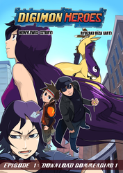 Digimon Heroes Issue 1 Cover by HewyToonmore