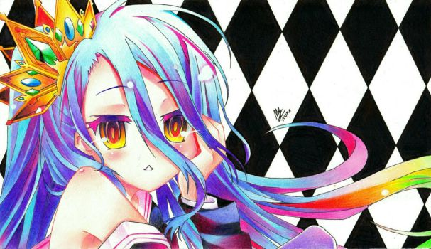 [Scanned] Shiro - No Game No Life by yuuka-arts
