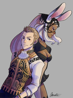 Final Fantasy XII - Balthier and Fran by Aeridis