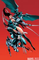 UNCANNY X-FORCE 1 cover by J-Scott-Campbell