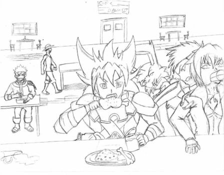 Tavern of universal warriors by Wolf-fang4