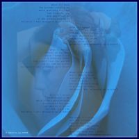 Wrapped Up In Blue Visual Poem by meljoy68