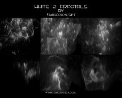 WHITE FRACTALS 2 by starscoldnight by StarsColdNight