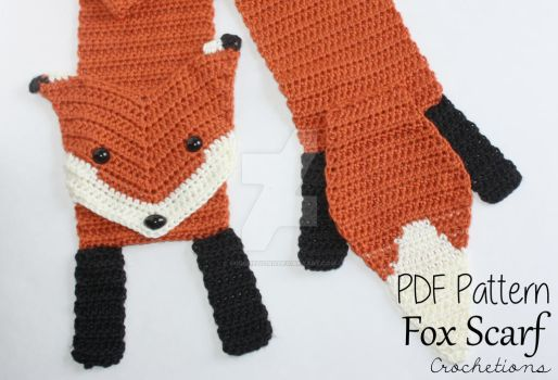 Fox Scarf - Crochet Pattern