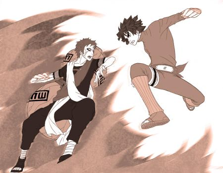Gaara vs Lee by osy057