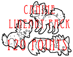 canine lineart pack - 120 points by levitzky