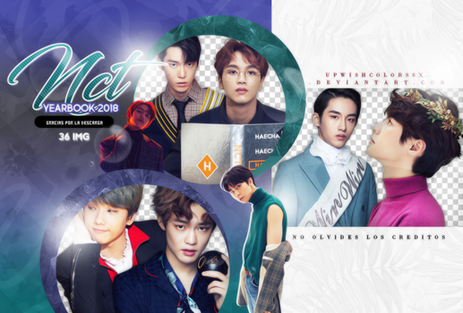 NCT  PNG PACK #6/Yearbook 2018 by Upwishcolorssx