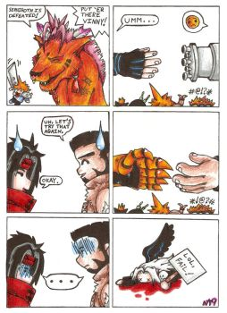 FFVII Comic: Claws and GunArms by Neotokyo9