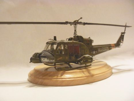 Revell's Uh1A Huey Helicopter 1/48 scale Side View by oldschool6239