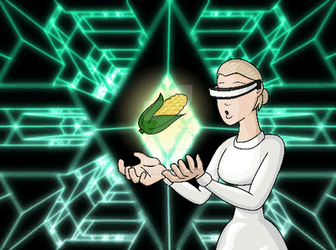 (gif) Cyber lady and corn, in the matrix part 6.2 by GastHeer