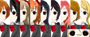 [MMD] Love Live! Tokyo Ghoul Models +DOWNLOAD by SabrinaIsAwesome2012