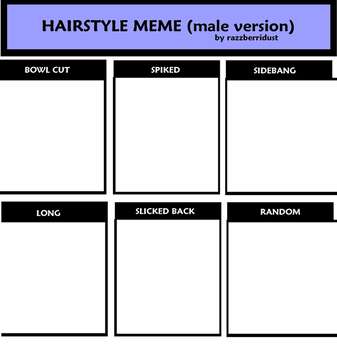 Hairstyle Meme - Male Version by razzberridust