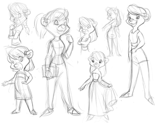 Molly Cunningham Conceptual Sketches by YamiPea