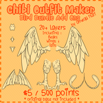 Chibi Outfit Maker Bird Bundle Add Ons by Omega-Fluff
