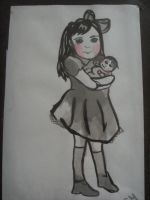 The girl with the doll by Perfectly--Unperfect