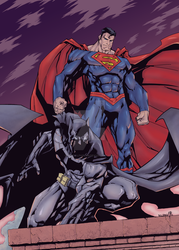 Batman and Superman by Mike Bowden Final by MentalPablum