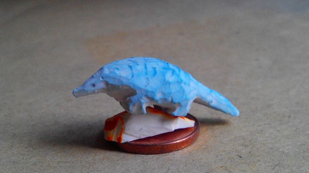 Blue pangolin by lluic