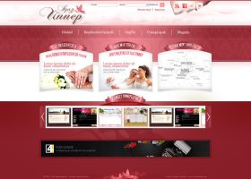 Wedding service - web design by VictoryDesign