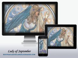 Wallpaper Pack - Lady of September by AngelaSasser