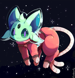 Space Espeon by purpleninfy