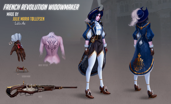 Overwatch French revolution  Widowmaker FAN SKIN by LuleMT