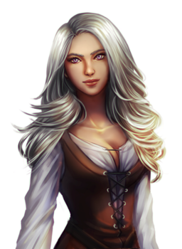 Commission : Silver Haired Girl by ForeverMedhok