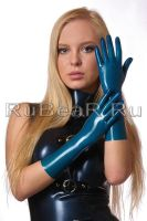 Blue latex gloves by latex-rat