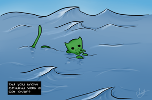 Cthulhu Cat by Clairey-kun