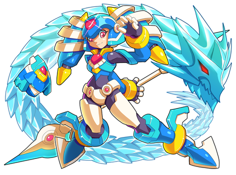 Commission: Biometal Model L with Ice Dragon by ultimatemaverickx