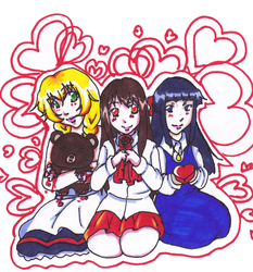 Horror girls V-day by Meeps-Chan