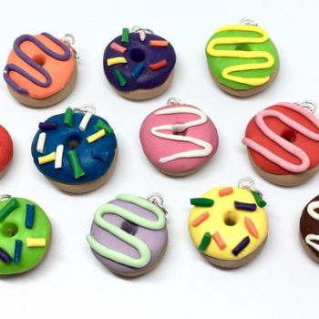 Clay Donut Charms by SolarCrush