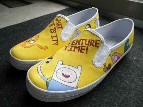 Adventure Time Shoes IX by Misfit-Mistress