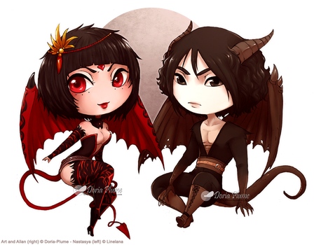 :AT: Dragon and Snake by Doria-Plume
