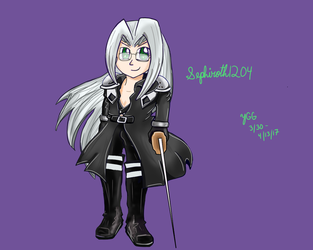 Sephiroth1204's character (Now 20% cuter!) by YoshiGamerGirl