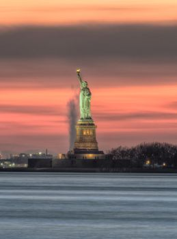 Liberty's Evening Glow by galactica1actual