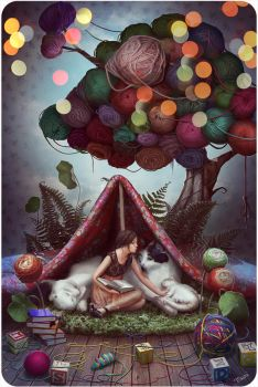 Fairytale about a Yarn tree by Katie-Watersell
