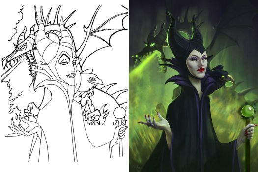 Drag Queen of Darkness - Coloring Pages by MonicaMarinho