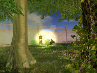 My Once Imaginary Garden - the Memorial corner by Kate-McCridhe