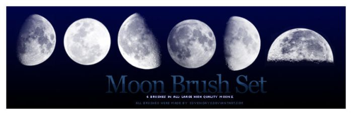 Moon Brush Set by s3vendays