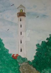 Ragged Point Light, Barbados by handylight