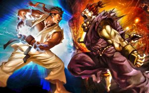 Ryu vs Akuma by Bontzy123