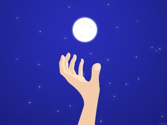 reaching for the moon by inri