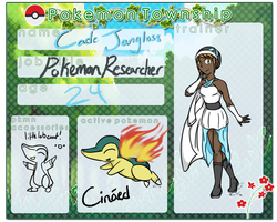 Pokemon Township-Trainer Sheet: Cade Jangloss by XNDArts