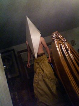 Pyramid Head cosplay progress by Doom-In-A-SKORT