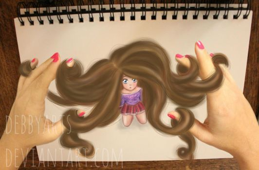 Hair in my hands - by DebbyArts by DebbyArts