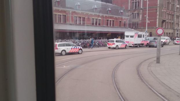 Police Cars at amsterdam central station by retmans