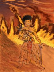 Afro-Barbarian is born! by Predabot