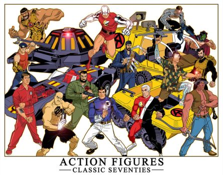 Smaller View Action Figures by dusty-abell